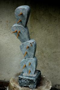 Kaktusz,20x20x80 cm,gránit,fa