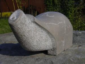 Szürke elefánt, mészkő, 60x25x25 cm